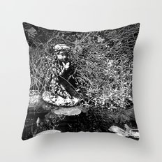 Butterfly Pond Throw Pillow