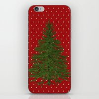 christmas tree iPhone & iPod Skins featuring *(Christmas) Tree* by Mr and Mrs Quirynen