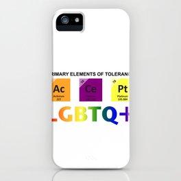 Accept LGBTQ+   Elements Of Tolerance iPhone Case