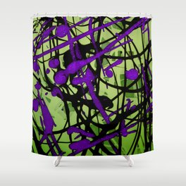 Lime Pop Shower Curtain