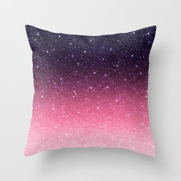 Ombre glitter #11 Throw Pillow