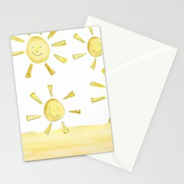 happy sunshine Stationery Cards