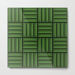 Green metallic pattern Metal Print