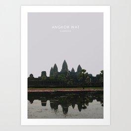 Angkor Wat, Cambodia Travel Artwork Art Print