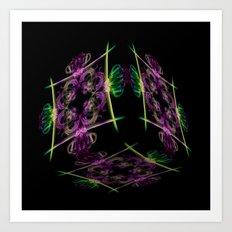 Oriental Smoke 3 3D Cube Art Print
