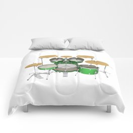 Green Drum Kit Comforters