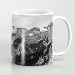 Black and White Mountains Coffee Mug