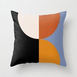 Geometric Circles Abstract III Throw Pillow