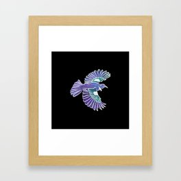 Tui New Zealand Bird Framed Art Print