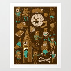 Wow! Werewolves!  Art Print