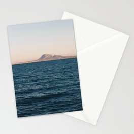 Mediterranean sea at sunset Stationery Cards