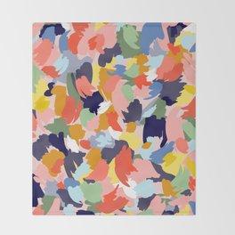 Bright Paint Blobs Throw Blanket
