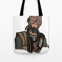 borderlands Tote Bags featuring borderlands mordecai by  Steve Wade ( Swade)