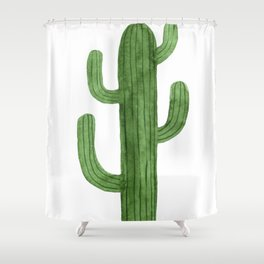 Solo Cactus Green Shower Curtain