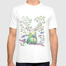 Flying school II SMALL White Mens Fitted Tee