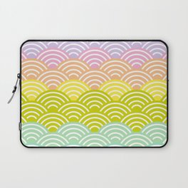 Seigaiha or seigainami literally means blue wave of the sea. rainbow pattern abstract scale Laptop Sleeve