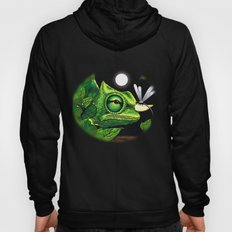Chameleon and Dragonfly on Moonlight Hoody