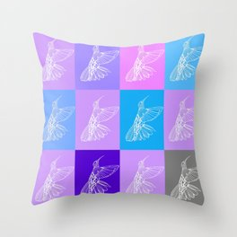 purple hummingbirds Throw Pillow