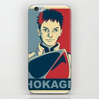 naruto iPhone & iPod Skins featuring Naruto - Hokage by KingSora