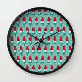 Pop Rockets on Aqua Wall Clock