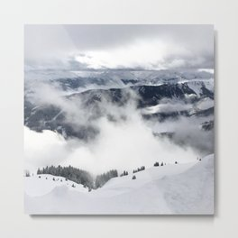 Winter Mountainscape Metal Print