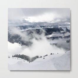 Winter Mountainscape Metal Print