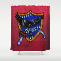 ravenclaw Shower Curtains featuring Ravenclaw by JanaProject