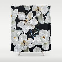Magnolia Midnight Shower Curtain