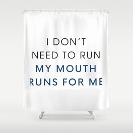 Running Mouth Shower Curtain