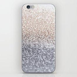 SILVER GLITTER iPhone Skin