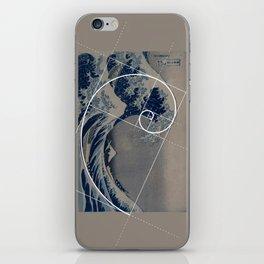 Hokusai Meets Fibonacci iPhone Skin