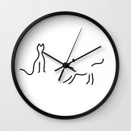 cats play Wall Clock