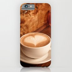 white coffee heart Slim Case iPhone 6s