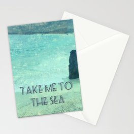 Take Me To The Sea quote Stationery Cards