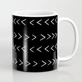 mudcloth 14 minimal textured black and white pattern home decor minimalist beach Coffee Mug