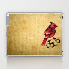 Cardinal and knuckle duster with canvas background Laptop & iPad Skin