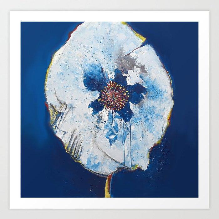 Life in Blue  Art Print