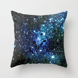 Ocean Blue Space Galaxy : Eagle Nebula Throw Pillow