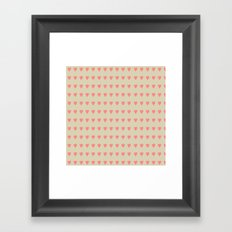 Pastel Heart Valentine Pattern Background Framed Art Print