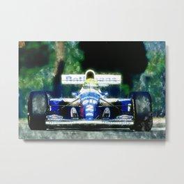 Ayrton Senna, Willams Metal Print