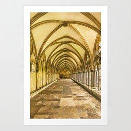 Vaulted Corridor Art Print