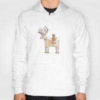 suit Hoodies featuring Deer Suit, Cat Suit by Brent Braaten