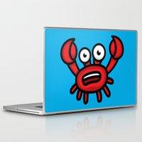 luigi Laptop & iPad Skins featuring Crab Luigi by leondesigns