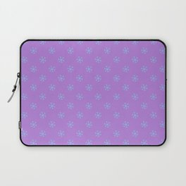 Baby Blue on Lavender Violet Snowflakes Laptop Sleeve