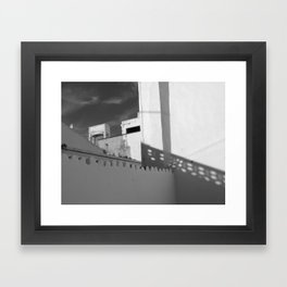 Light and shade in Lagos Framed Art Print