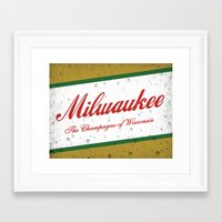 milwaukee Framed Art Prints featuring Milwaukee, Wisconsin by Project Wisconsin