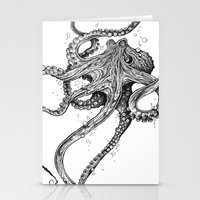 american Stationery Cards featuring Octopus by TAOJB
