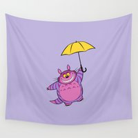 cheshire Wall Tapestries featuring Cheshire Totoro by sirwatson