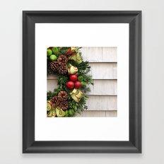 Holiday Wreath Framed Art Print
