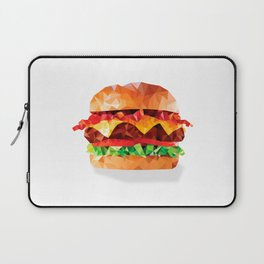Geometric Bacon Cheeseburger Laptop Sleeve